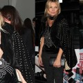 Kate Moss Rocks a Studded Cape for the Rimmel Party