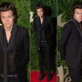Harry Styles Covers Up His Sheer Shirt with a Scarf