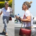 How To Look Fun and Fabulous in a Scarf and Overalls like Hilary Duff