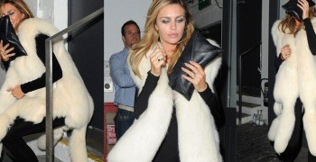 Abbey Clancy Overdoses Herself with Fur