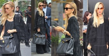 Rachel Zoe Adds Flair to Basic Black with A Fringed Cape