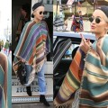 Rita Ora Rocks a Poncho with Her Boyfriend Jeans, Do You Approve?