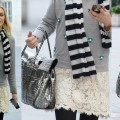 Fearne Cotton Mixes Lace with Stripes, Do You Approve?