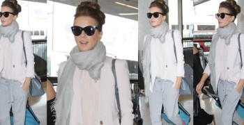 How to Style a Gray Scarf Like Kate Beckinsale