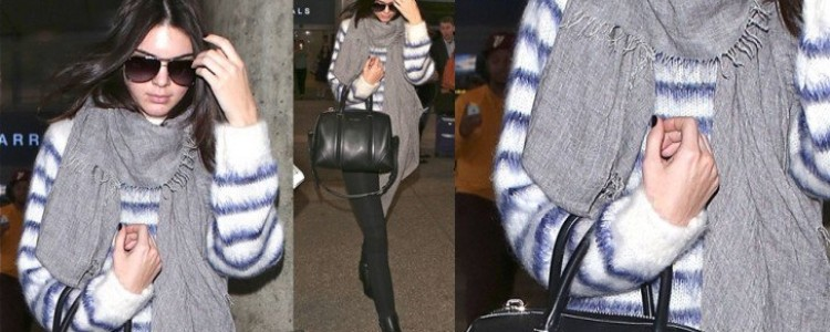 How to Jazz Up a Gray Scarf Like Kendall Using Pieces from Your Closet