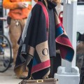 How to Wear a Patterned Wrap with Printed Loafers Like Olivia Palermo