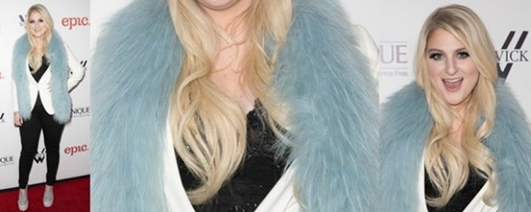 Meghan Trainor Fashions Fur for Album Release Party