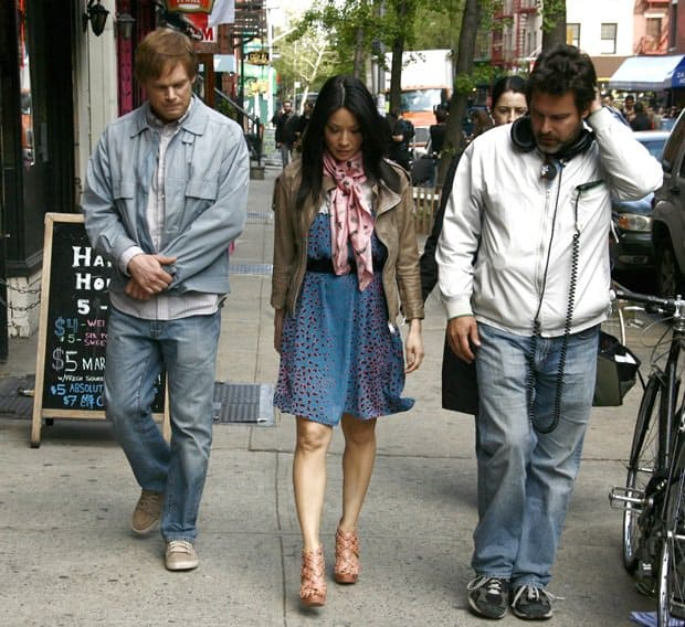 Michael C. Hall, Lucy Liu and Michael Knowles