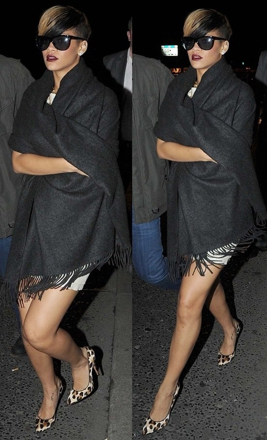 Rihanna leaving Lillie's Bordello nightclub in Dublin on May 22, 2010