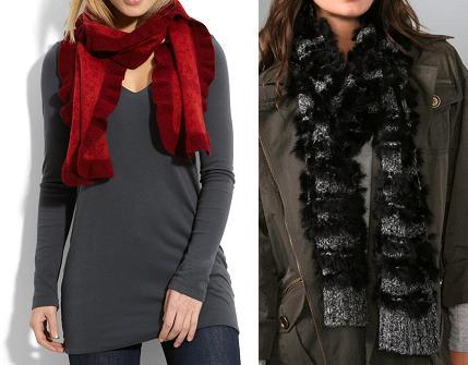 Unique looking scarves