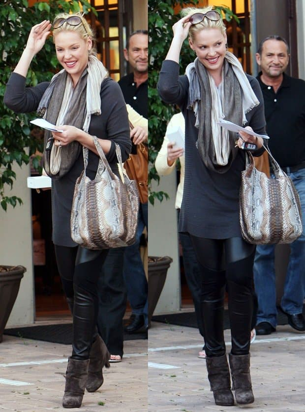 Katherine Heigl and her mother shop for kitchen appliances at Snaidero in West Hollywood on November 16, 2010