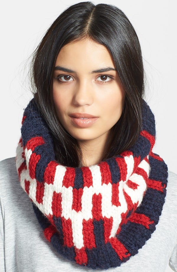 Jonathan Adler Stepped Chevron Intarsia Knit Neck Warmer