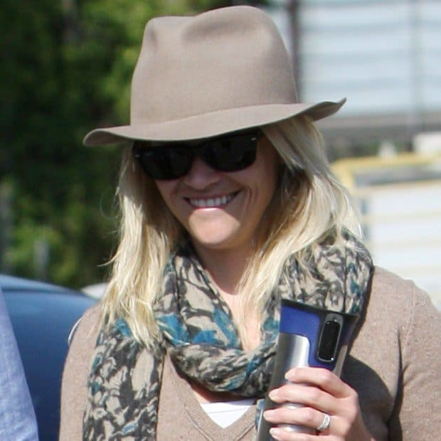Reese Witherspoon wearing a cowgirl hat