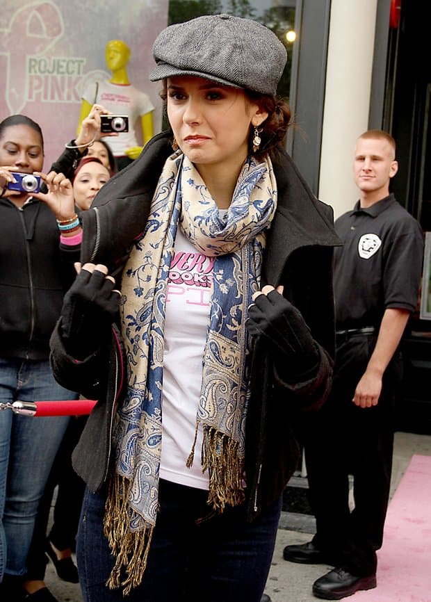 Nina Dobrev hosts 'Project Pink Day NYC' for Breast Cancer awareness month at the Puma store in Union Square on October 2, 2011
