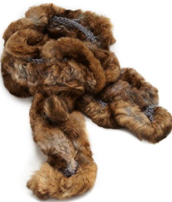 Scala Rabbit Fur Scarf