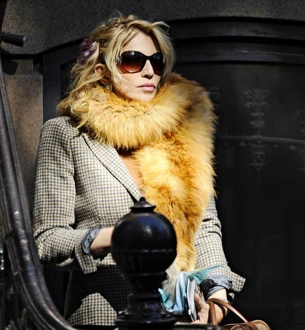 Courtney Love seen house hunting in the West Village of New York City on October 11, 2012
