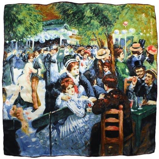 Pierre-Auguste Renoir's Le Moulin De La Galette Printed Silk Scarf