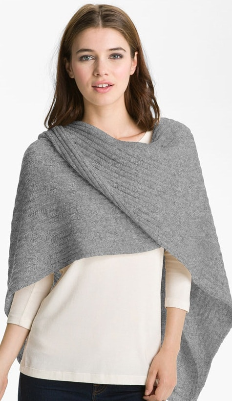nordstrom collection ribbed cashmere wrap
