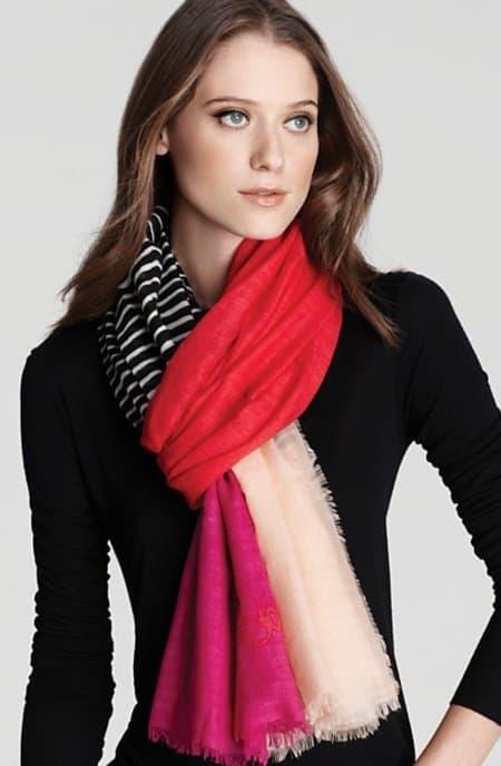 diane von furstenberg hanover linescape scarf