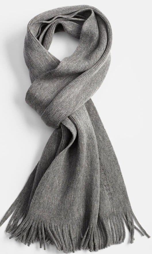 boss black albas wool scarf