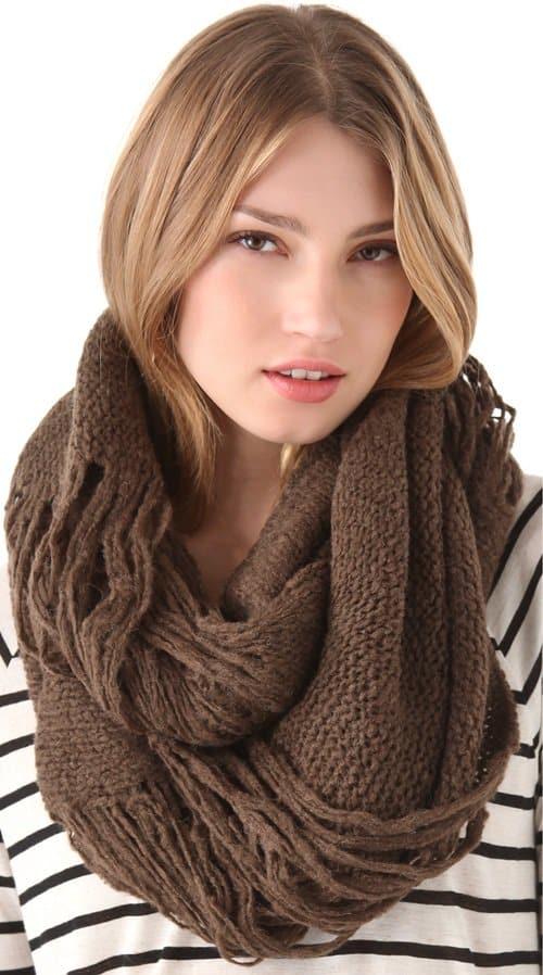 paula bianco distressed wrap scarf