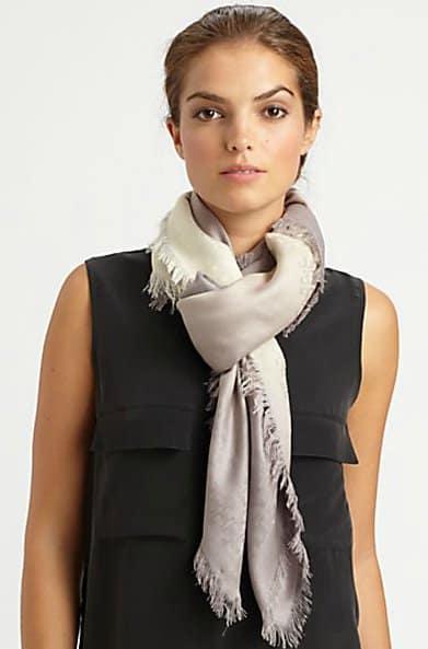tory burch dip dyed jacquard scarf