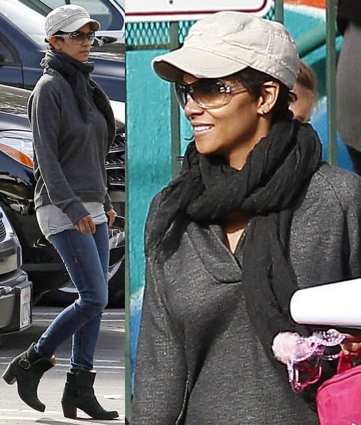 Halle Berry Fetches her Daughter Jan 29 LA