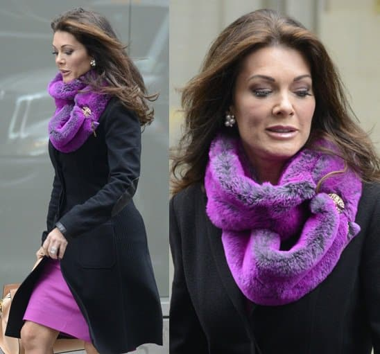 Lisa Vanderpump exits the trump hotel jan 30