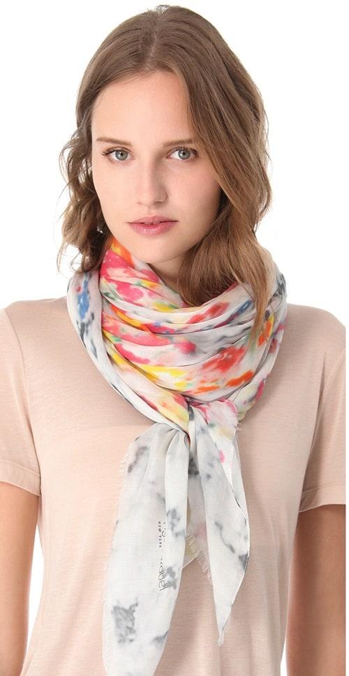 yigal azrouel flourist print scarf