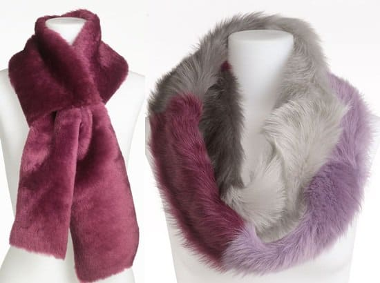 UGG Australia Classic Shearling 4 Panel Scarf in Sugar Plum / UGG Australia City Ombre Infinity Scarf in Sugar Plum