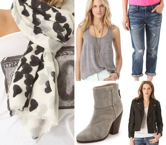 Get the Look - Black and White Scarf