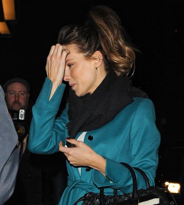 Kate Beckinsale Leaves Claridge's