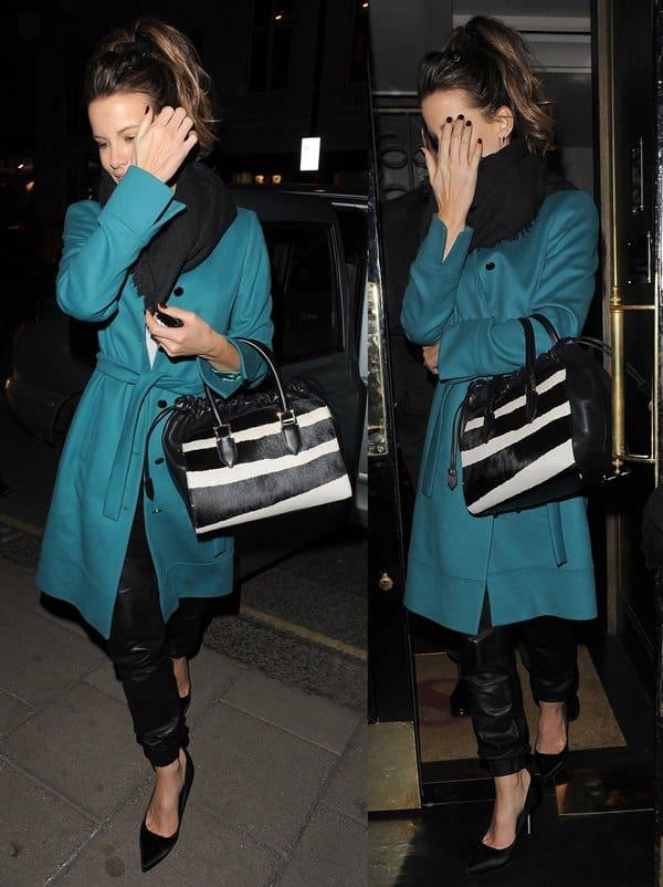 Kate Beckinsale At Scott's Restaurant
