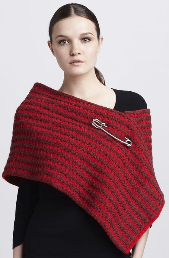 marc jacobs safety pin waffle knit scarf