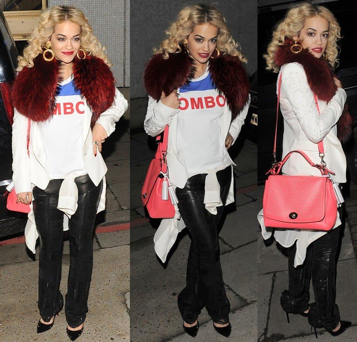 "Rita Ora leaving the London studios after taping her appearance on the ""Graham Norton Show"" in London on February 14, 2013"