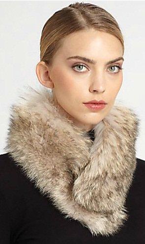 sherry cassin classic fur clip collar