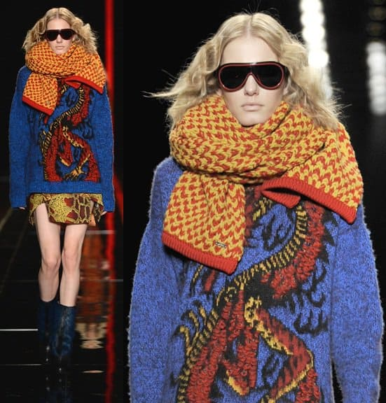 feb 20 London Fashion Week - Autumn/Winter 2013 - Cavalli - Catwalk
