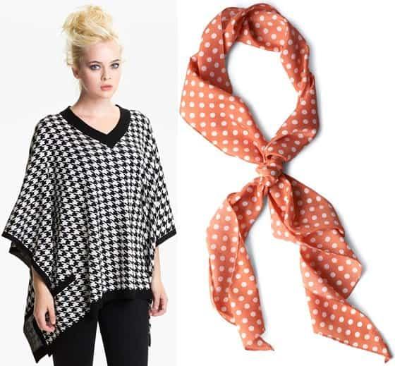 brazen poncho and modcloth scarf