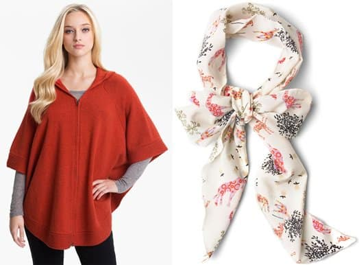eileen fisher poncho and modcloth scarf