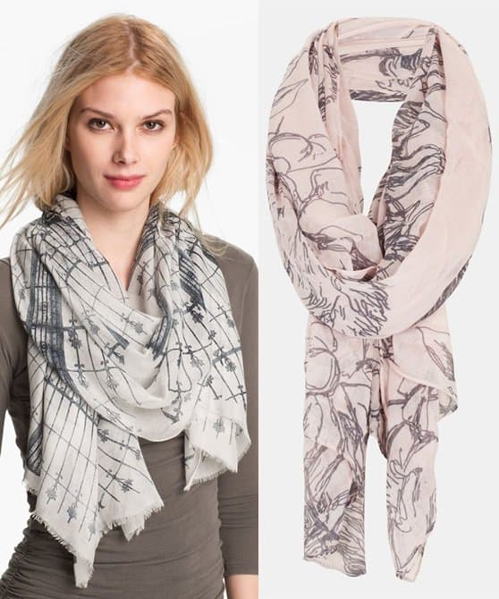 nordstrom and topshop scarves