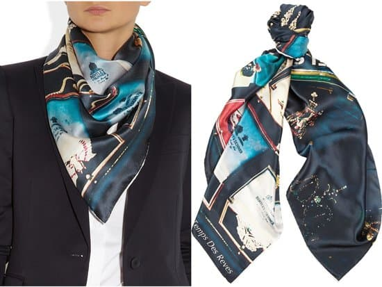 TEMPS DES RÊVES_Bond Street Jewels printed silk-satin scarf_style