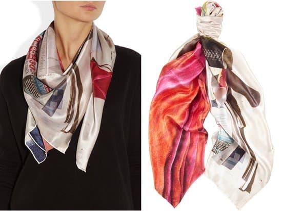TEMPS DES RÊVES_Bondi Summer printed silk-satin scarf_styled
