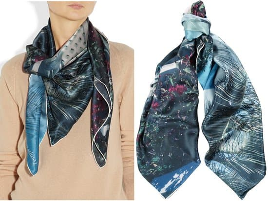 TEMPS DES RÊVES_Harbour Island printed silk-satin scarf_styled