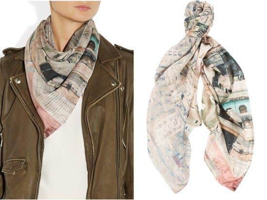 TEMPS DES RÊVES_Havana printed silk chiffon scarf_styled