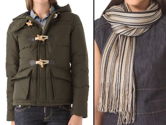 penfield jacket and missoni scarf