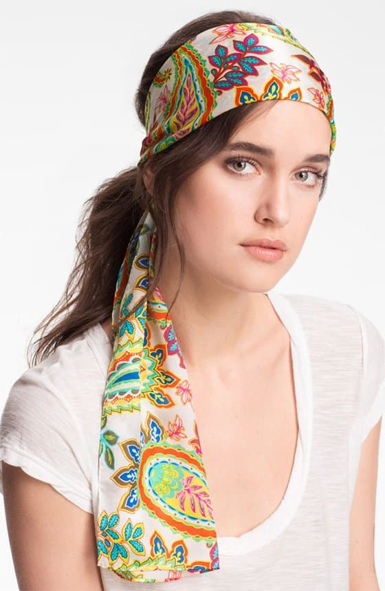 echo springtime paisley silk scarf