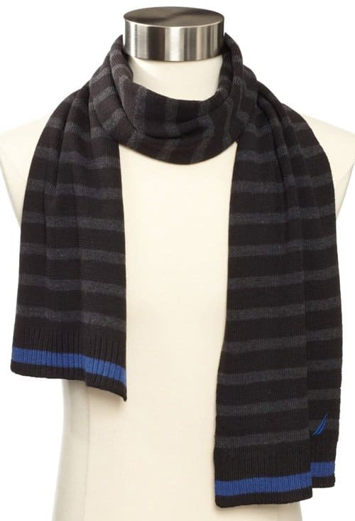 nautica striped scarf