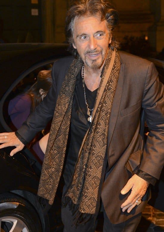 Al Pacino and girlfriend Lucila Sola tour Rome on holiday