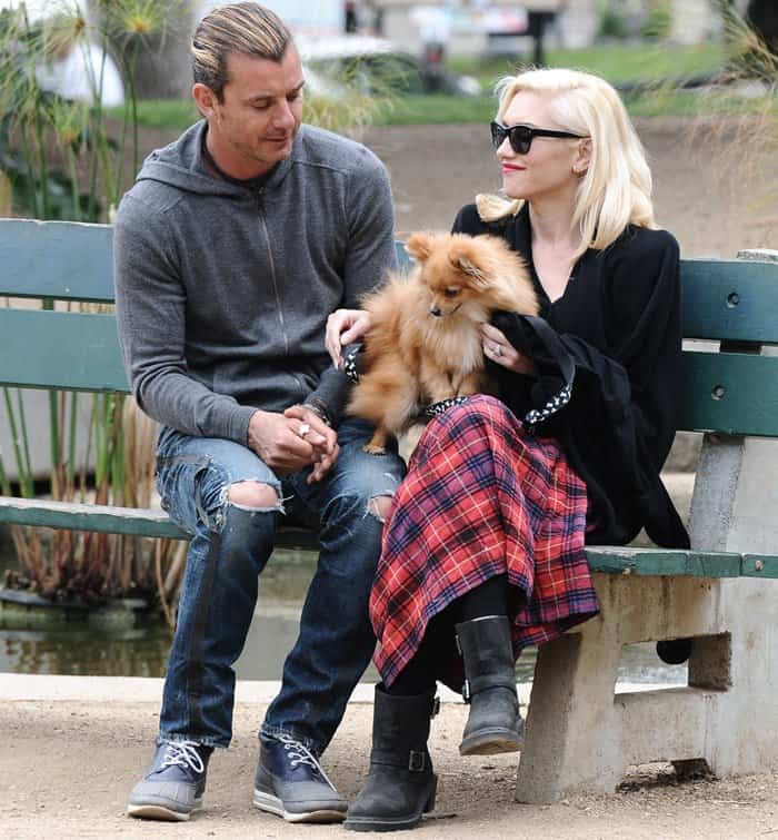 Gwen Stefani With Family