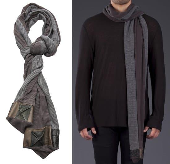 Jerell Scott 2-tone box scarf_grey